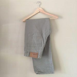 H&M LOGG Stone Grey Twill Khakis Chino Pants